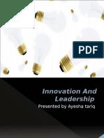 innovation and leadership