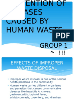 Prevention of Diseases Caused by Human Waste