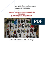 Сhildren's Play Activity through the Paradigm of Sociological Imagination