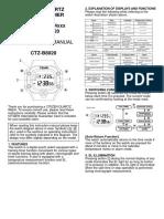 Citizen Instruction Manual D320