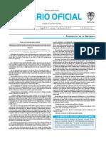 Diario oficial de Colombia n° 50.140. 07 de febrero de 2017