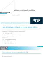 Les relations contractuelles en Chine