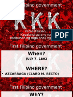 First Filipino Government