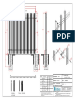 Ff2400mm Palisade Fencing Panel-model