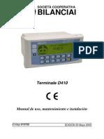 Balanza D410 Manual de Instalacion