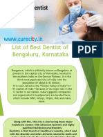 List of Best Dentists of Bengaluru - Curecity