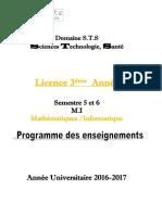 Livret 3 éme Année Mathématiques / Informatique S5 et S6