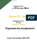 Livret 3 éme Année Physique / Chimie S5 et S6