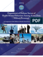 2005 Department of Defense Survey of Health Related Behaviors Among Active Duty Military Personnel