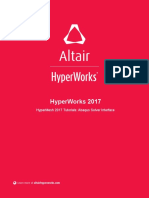 HyperMesh 2017 Tutorials Abaqus Solver Interface | Graphical