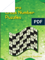 Algebra Cross Number Puzzle
