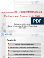 Informatization, Digital Infrastructures, Platforms and Resources in Beijing National University