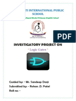 CBSE class 12 physics investigatory project on logic gates