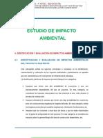 4. Identificación y Evaluación de Impactos