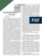 Decreto Supremo que declara el Estado de Emergencia en la provincia de Chincha y el distrito de Huancano en la provincia de Pisco del departamento de Ica por desastre a consecuencia de intensas lluvias