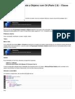 Sinergia  -  Programação Orientada a Objetos Com C# - Parte 2.6 - Classe