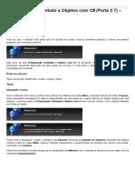 Sinergia  -  Programação Orientada a Objetos Com C# - Parte 2.7 - Classe