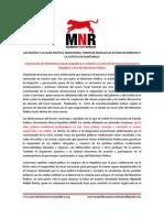 Comunicado Del Movimiento Nueva Republica Frente a Crisis Del Mp.