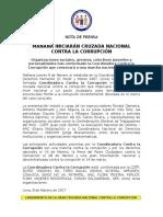 Nota de Prensa Odebrecht Campaña Contra Corrupción