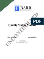 Barr Quality Manual