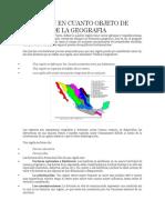 La Región en Cuanto Objeto de Estudio de La Geografia