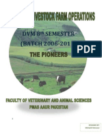 Manual of Livestock Farm Operations DVM Pioneer