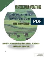Manual of Livestock Farm Operations DVM Pioneer