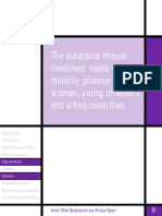 The substance misuse treatment needs of minority prisoner groups