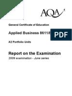 Aqa - Applied Bs - Exam Report 09 - A2 Portfolio Units