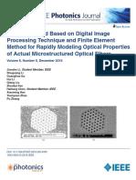 Optical fiber a Photonics journal portion