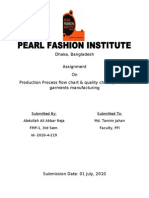 Assignment Report on Quality Inspection of Shirt Manufacturing