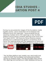 A2 Media Studies - Evaluation Post 4