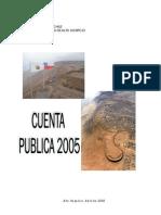 Cuenta Publica Hospicio 2005