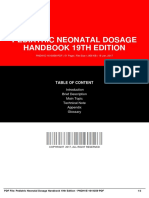 Pediatric Neonatal Dosage Handbook 19th Edition