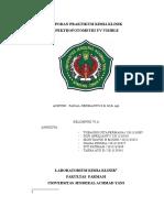 Laporan Praktikum Kimia Klinik 1