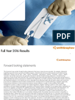 Smith and Nephew FY 2016 Presentation