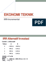 Ekotek 7. Alternatif Ekonomi Investasi IRR Incremental
