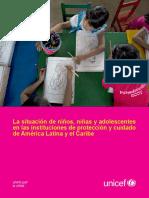 UNICEF Estudio Sobre NNA en Instituciones