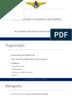 Aula 01 - Análise de Missão e Arquitetura de Satélites