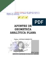 1º Geometría Analítica Plana