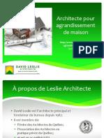 David Leslie, architecte en agrandissement de maison
