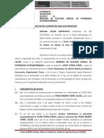 DEMANDA DE FILIACION Y ALIMENTOS HIJO EXTRAMATRIMONIAL