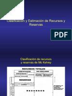 Estimacion de recursos y reservas - clases