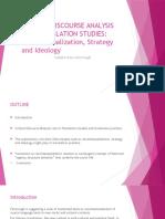 Critical Discourse Analysis and Translation Studis
