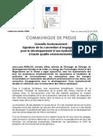 Signature de la convention d'engagements pour le développement d'une hydroélectricité à haute qualité environnementale
