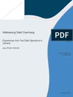 Addressing Debt Overhang Experiences From Two Debt Operations in Jamaica