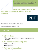 Filsan / Phosphorus Success Stories in The Dry Land Farming Of The Bay Region-Somalia