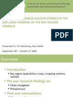 Filsan / Phosphorus Success Stories in The Dry Land Farming Of The Bay Region-Somalia