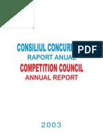 Raporta Nual 2003