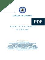 Raportul de Activitate Pe Anul 2016
